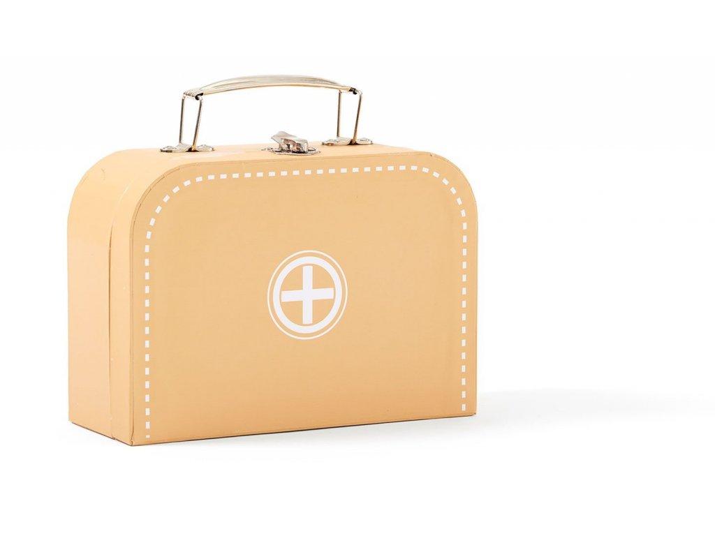 Dětský dřevěný doktorský kufřík žlutý Kids Concept