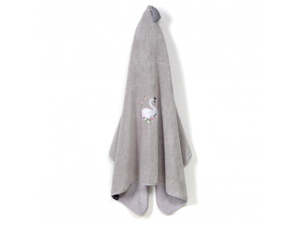 Dětská bambusová osuška s kapucí vel.M La Millou Moonlight Swan