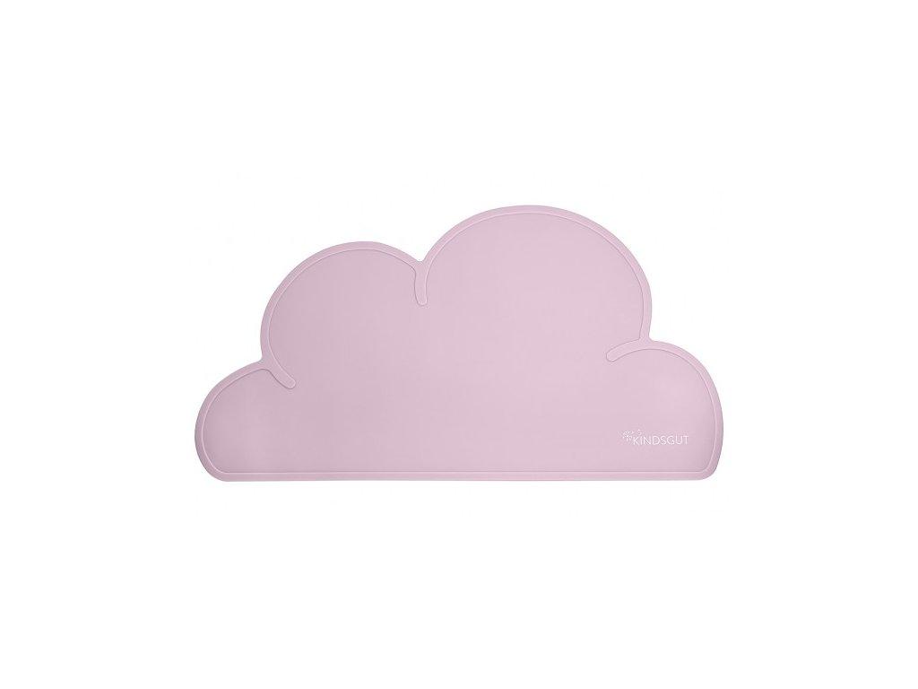 Dětská silikonová podložka Obláček růžová Kindsgut