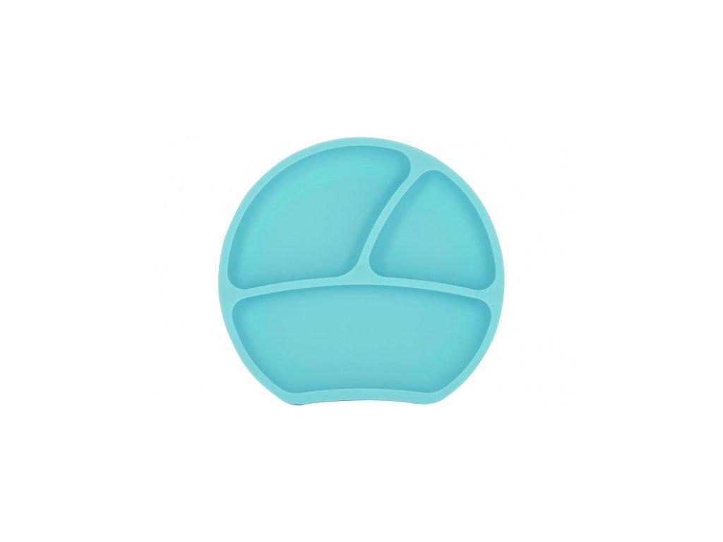 Dětský silikonový protiskluzový talíř mint Kindsgut