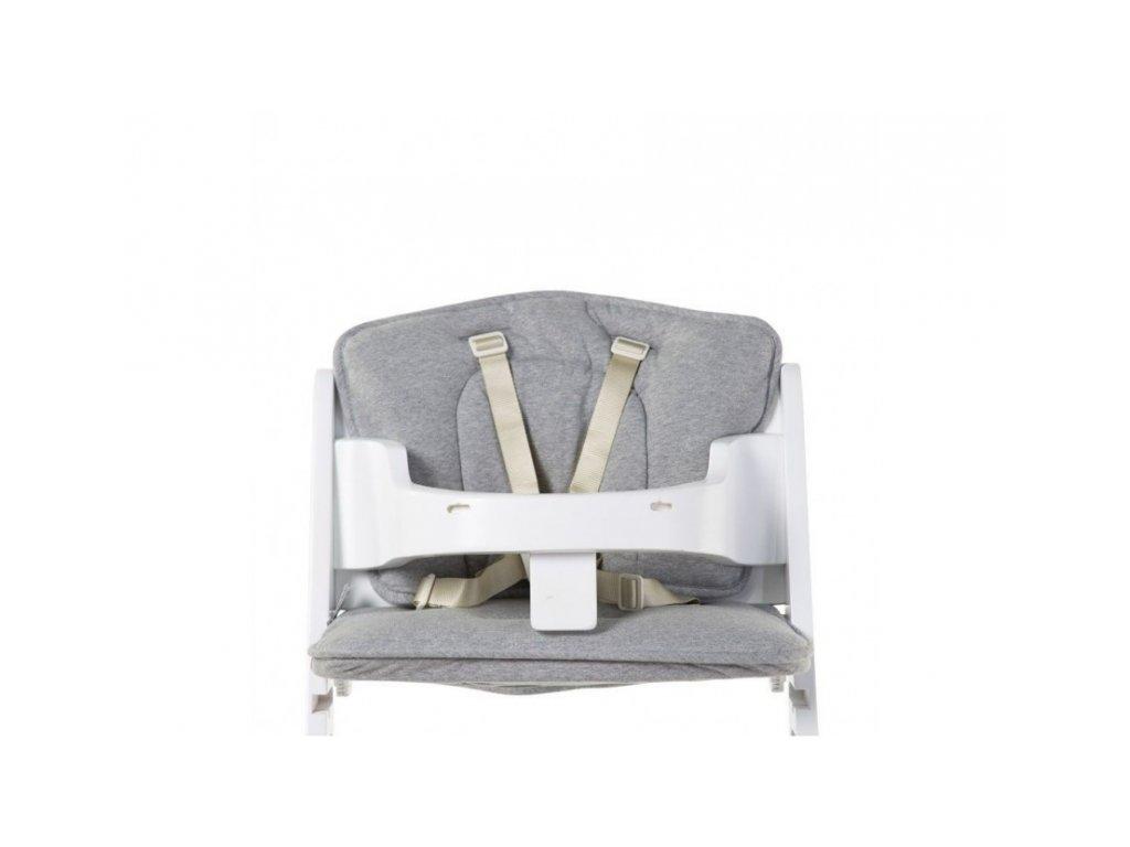 Childhome Sedací polštářky do rostoucí židle Jersey Grey