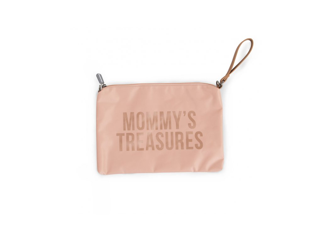 Childhome Pouzdro na zip s poutkem Pink Copper