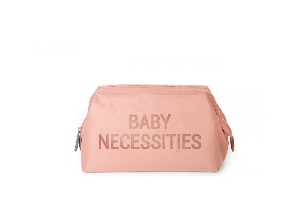 Childhome Toaletní taška Baby Necessities Pink Copper