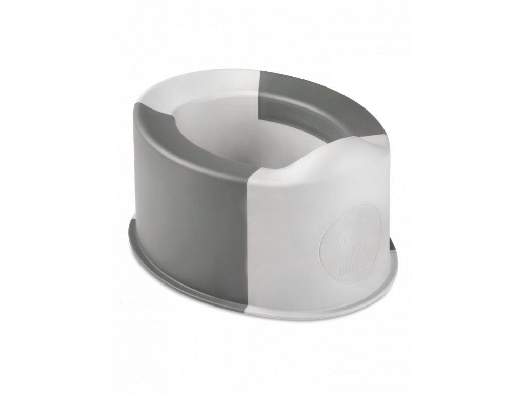 Skládací nočník Buubla šedý
