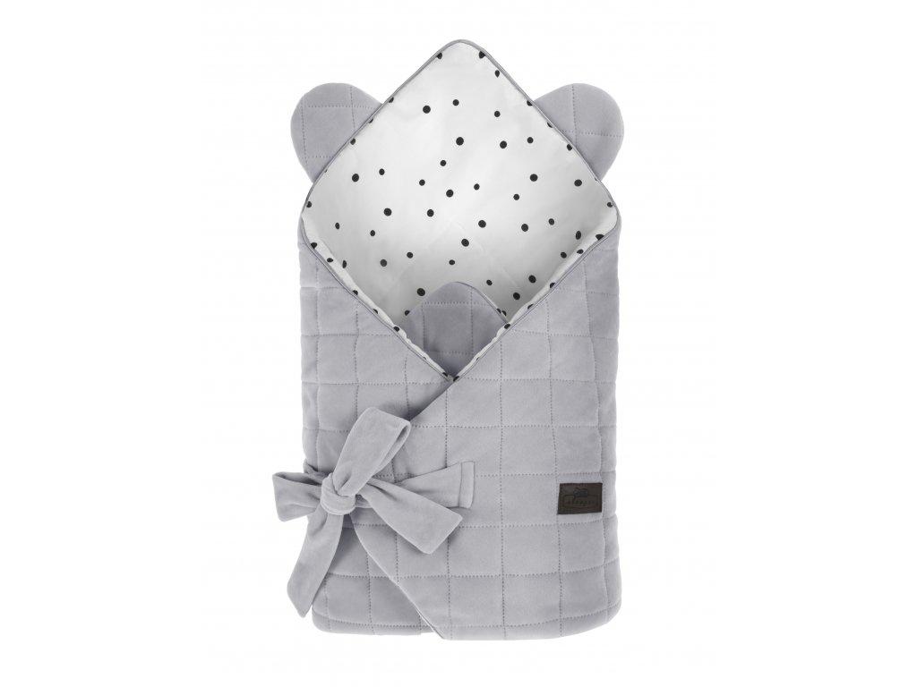 Zavinovačka Sleepee Royal Baby Swaddle Wrap šedá