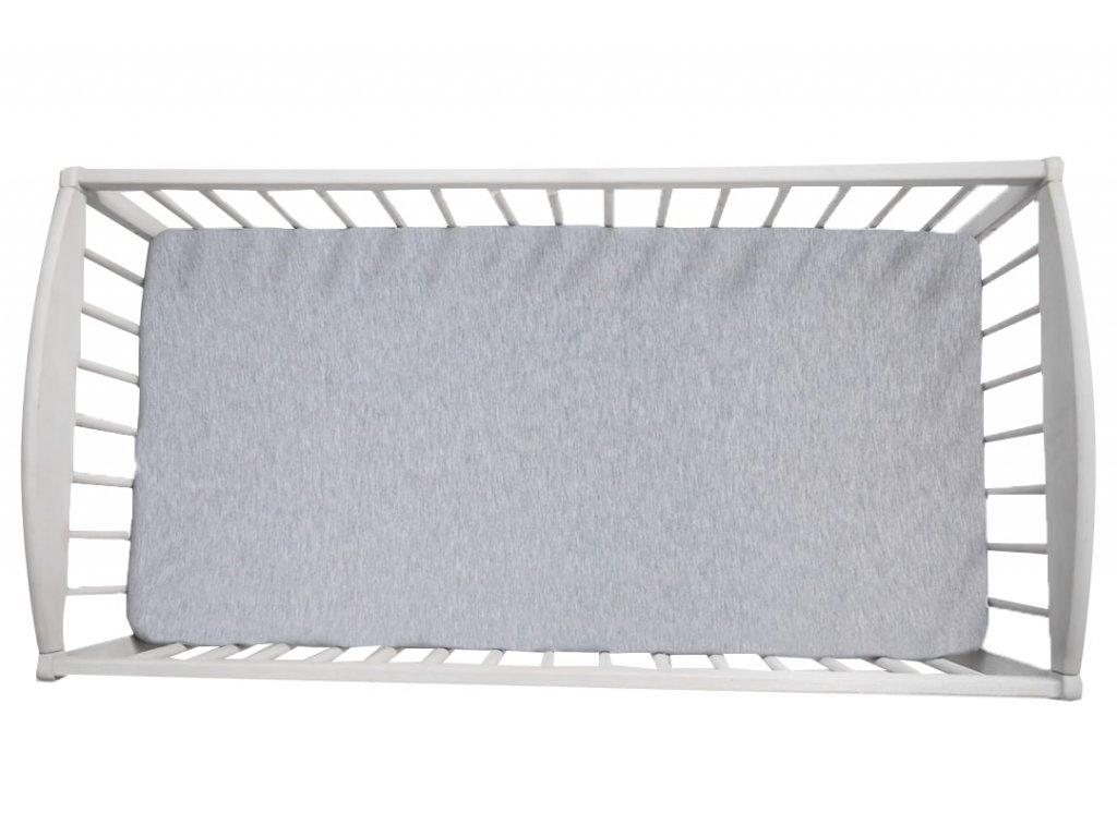 Prostěradlo Sleepee We Care pastelová šedá 120x60 cm