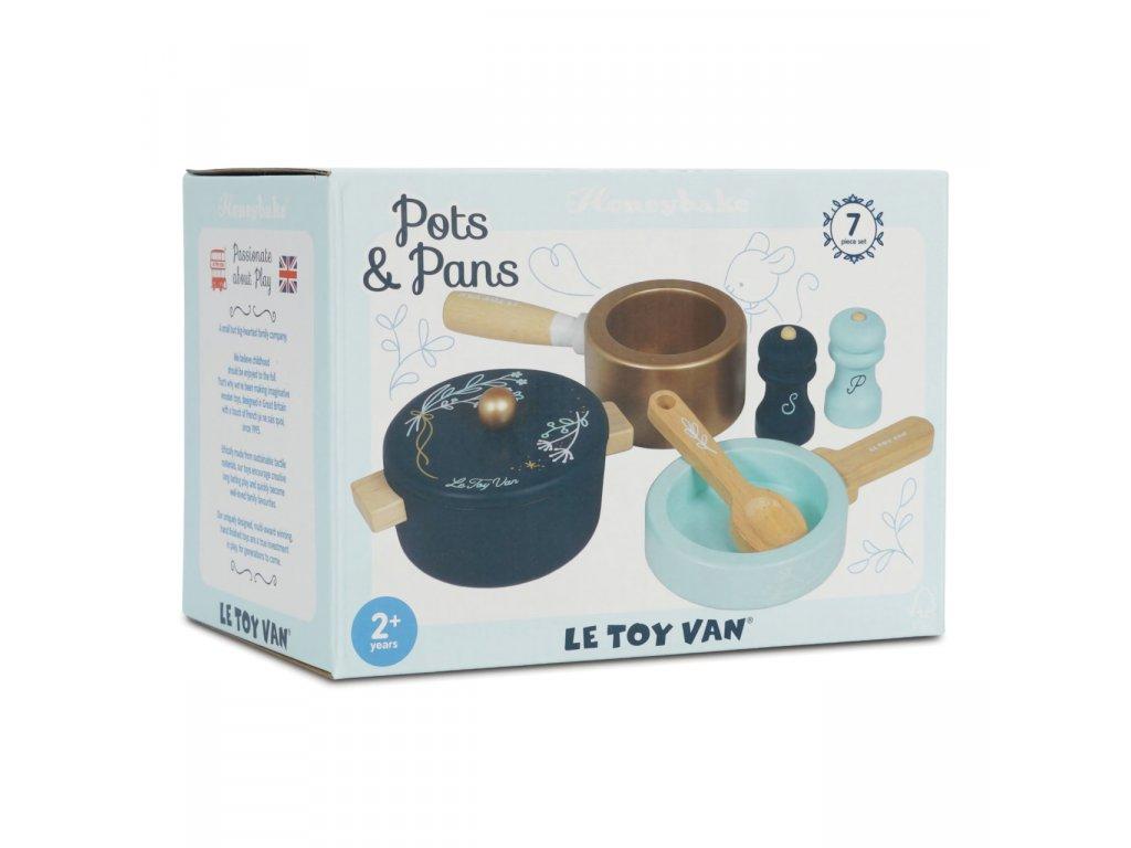 Le Toy Van Sada dřevěného nádobí do dětské kuchyňky