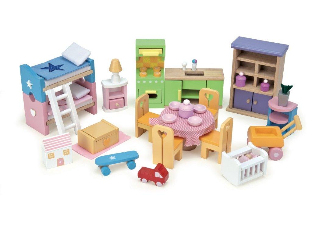 Le Toy Van Nábytek do domečku pro panenky - kompletní set Starter