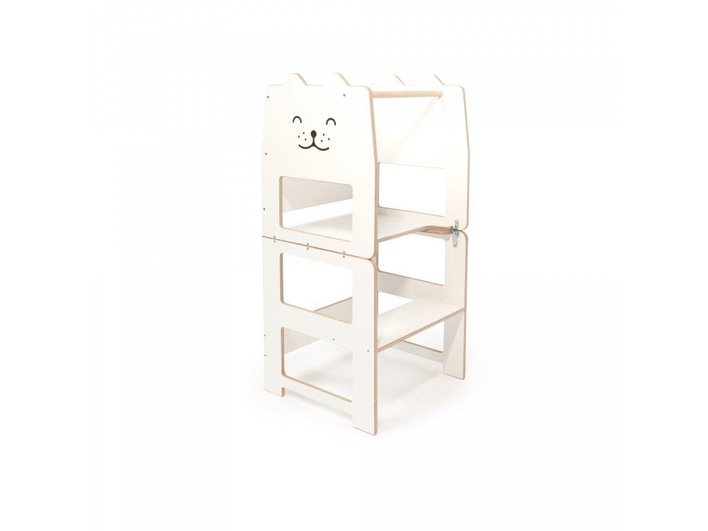 Učící věž víceúčelová kočka bílá by Craffox