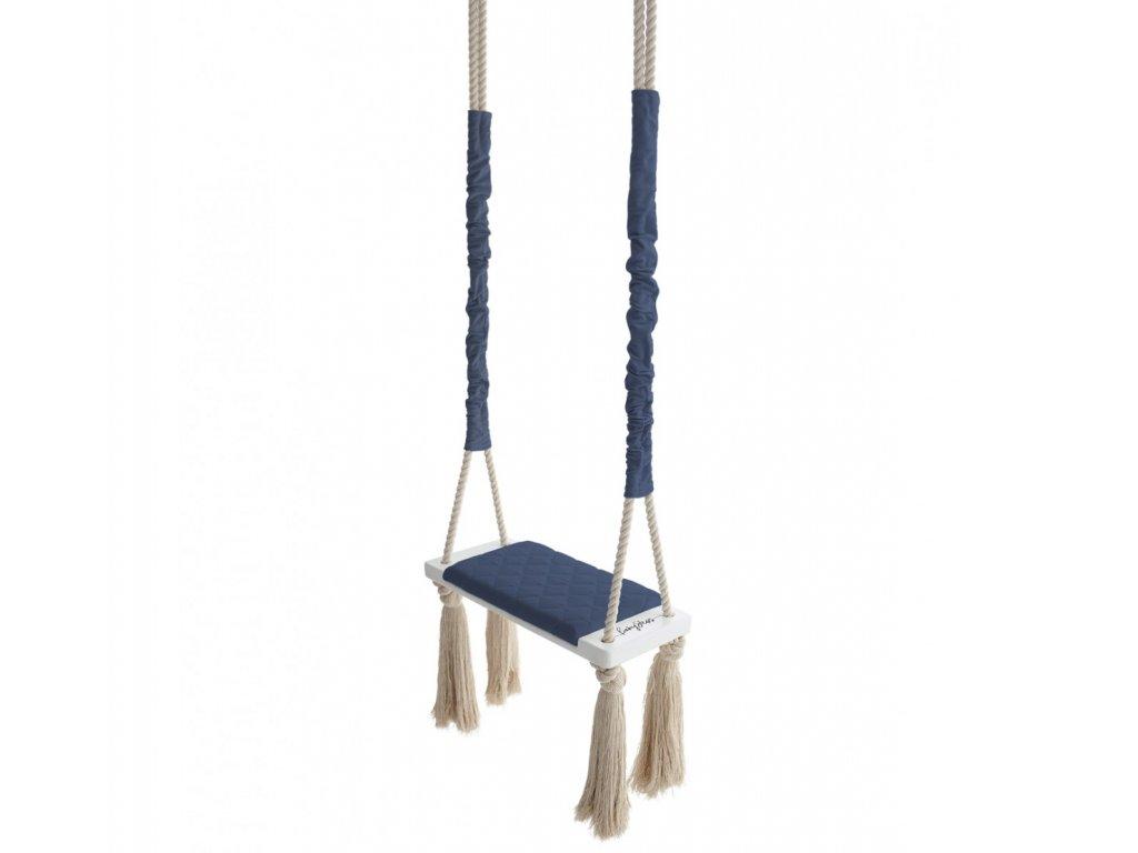 Dětská houpačka Wood Swing Babysteps námořnická modrá