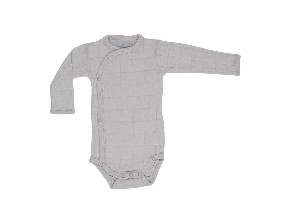 Lodger Dětské body Romper Solid Long Sleeves Mist 1