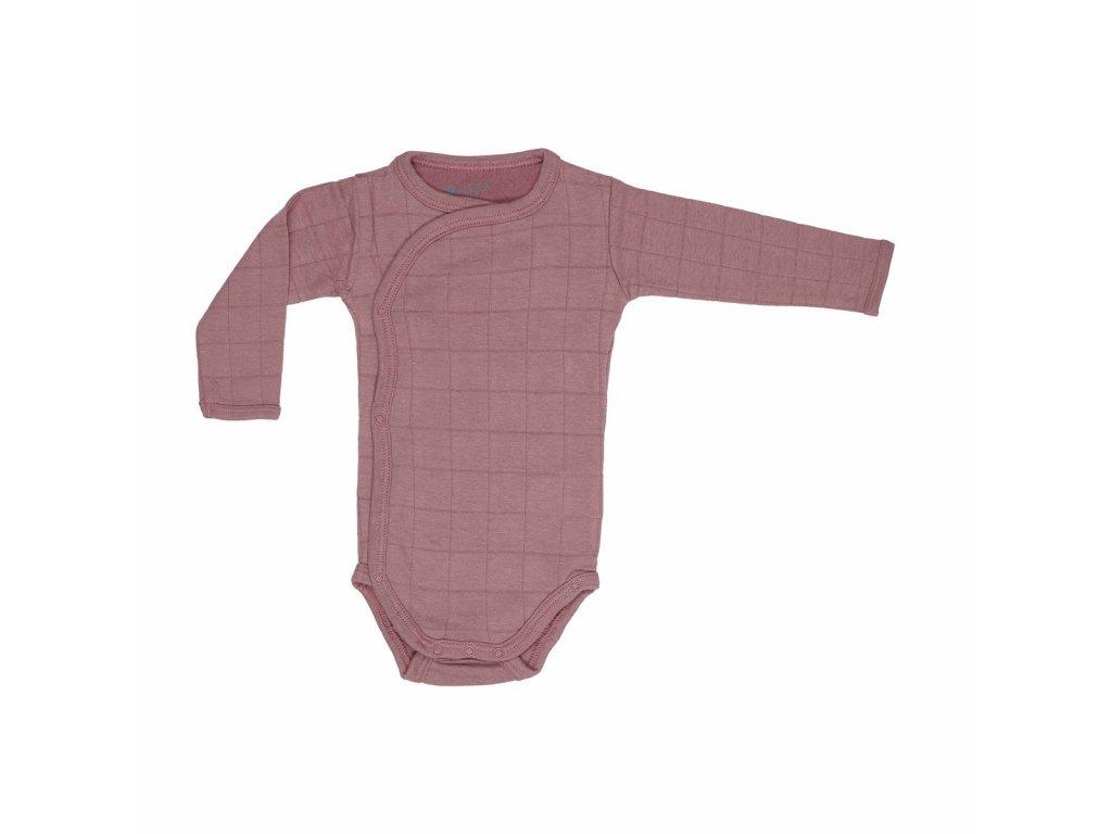 Lodger Dětské body Romper Solid Long Sleeves Plush 1