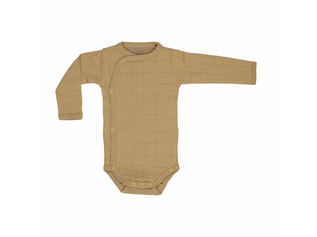 Lodger Dětské body Romper Solid Long Sleeves Honey 1