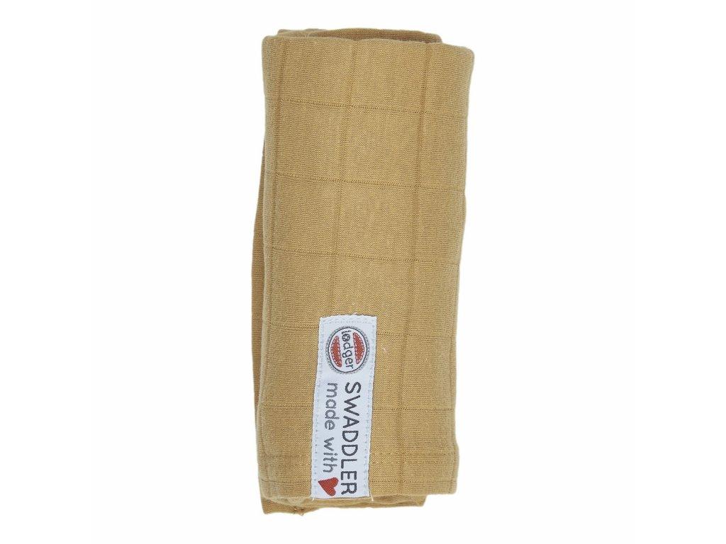 Lodger Látková plena Swaddler Solid 70 x 70 cm Honey 1