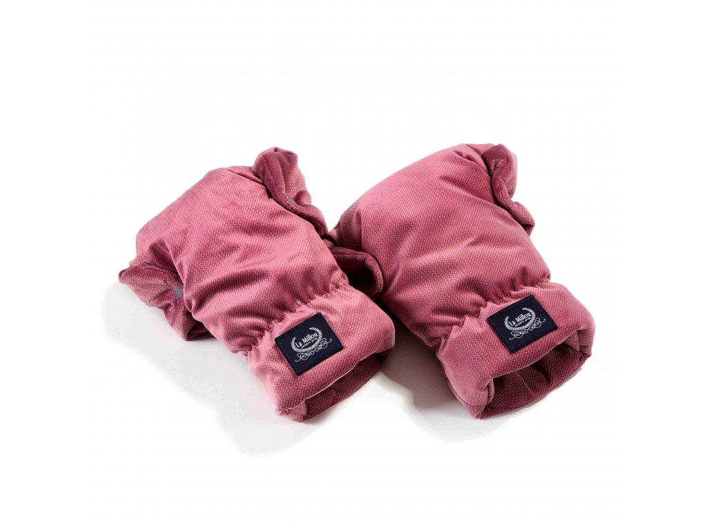 La Millou Univerzální rukavice na kočárek Aspen Winterproof Mulberry