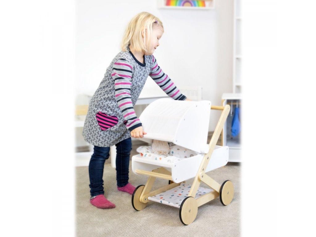 Small Foot Dřevěný kočárek pro panenku Little Button (11) Copy