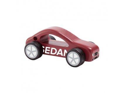 Dětské dřevěné auto Aiden sedan červené