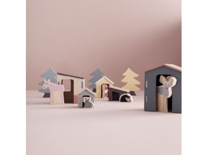 Sada dřevěných stromečků z kolekce Edvin by Kids Concept