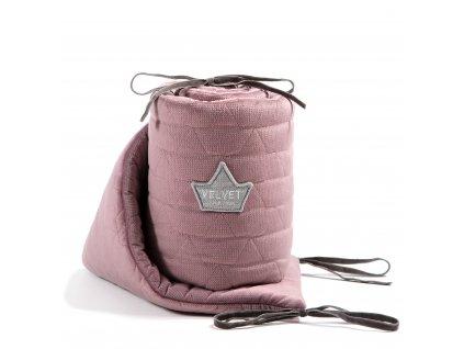 Luxusní mantinel do postýlky La Millou VELVET COLLECTION French Lavender