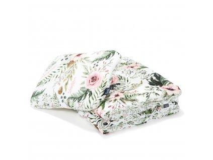 Přikrývka a polštář La Millou Wild Blossom & Forest blossom M