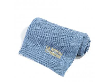 Luxusní pletená dětská deka La Millou Tender Denim