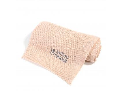 Luxusní pletená dětská deka La Millou Tender Pure Love