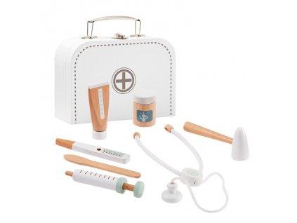Dětský dřevěný doktorský kufřík bílý Kids Concept