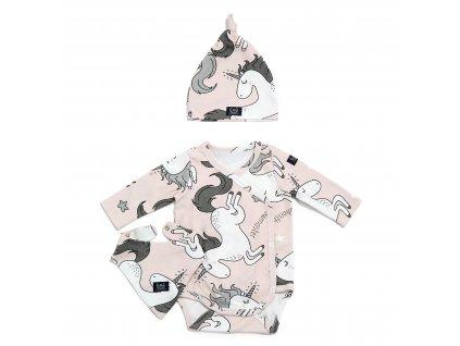 Dárková souprava oblečení pro miminka La Millou Unicorn Sugar Bebe