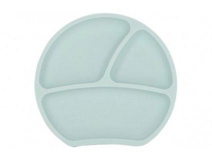Dětský silikonový protiskluzový talíř světle tyrkysový Kindsgut