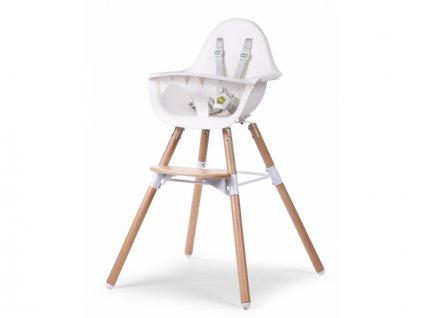 Childhome Dětská židle 2v1 Evolu 2 Natural / White