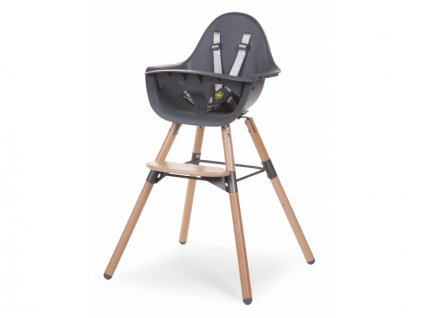 Childhome Dětská židle 2v1 Evolu 2 Natural / Anthracite
