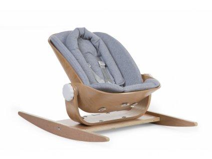 Childhome Podložka do houpacího lehátka Wood Rock Jersey Grey