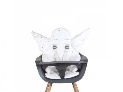 Childhome Podložka s křídly do dětské židle Angel Gold Dots