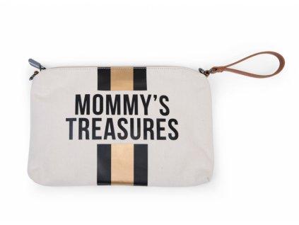 Childhome Mateřská taška Mommy's Treasures Off White / Black Gold