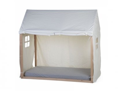Textilní potah Tipi White na rám postele domeček Childhome 70x140cm