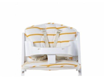 Childhome Sedací polštářky do rostoucí židle Jersey Ochre Stripes