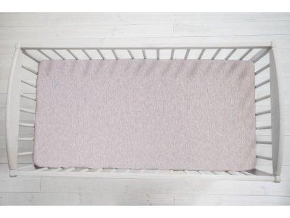 Sleepee Prostěradlo Sleepee We Care pastelová růžová 140x70 cm