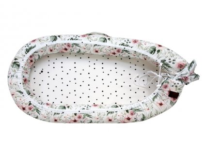 Hnízdečko pro miminko Sleepee Maxi květiny