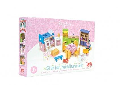 13728 le toy van nabytek do domecku pro panenky kompletni set starter