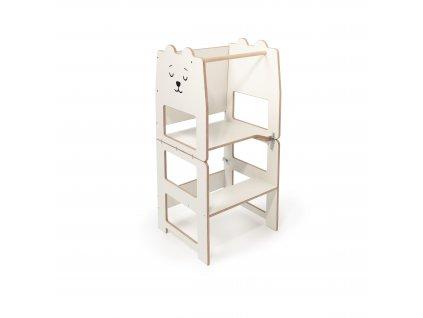 Víceúčelová učící věž by Craffox bílá medvěd