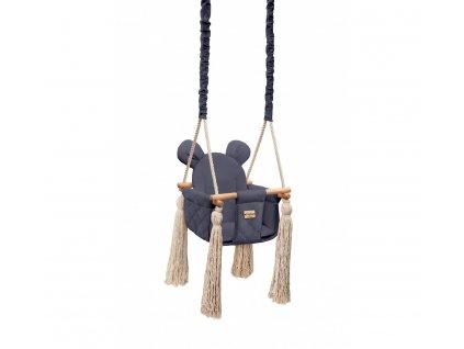Dětská houpačka Velvet Swing Babysteps námořnická modrá