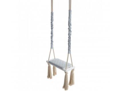 Dětská houpačka Wood Swing Babysteps šedá