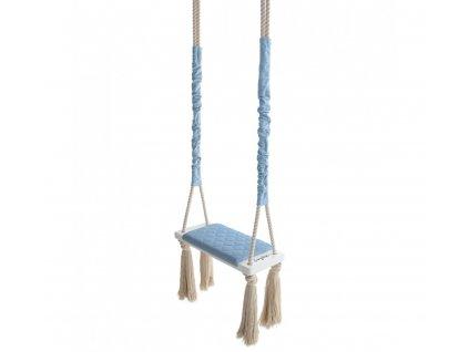 Dětská houpačka Wood Swing Babysteps modrá