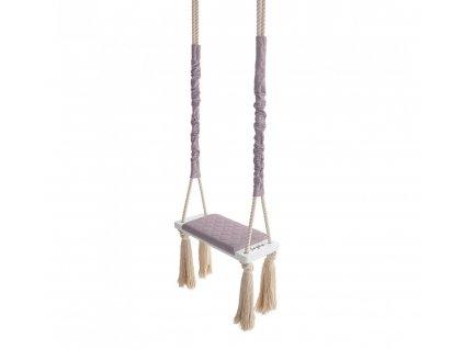 Dětská houpačka Wood Swing Babysteps popelavá fialová