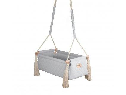 Houpačka:kolébka pro miminka Newborn Swing Babysteps šedá