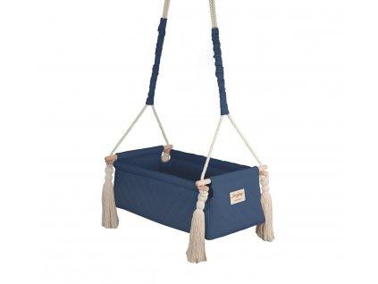 Houpačka:kolébka pro miminka Newborn Swing Babysteps námořnická modrá