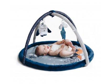 Hrací deka s hrazdičkou s lesními zvířátky Babysteps modrá