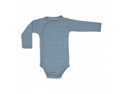 Lodger Dětské body Romper Solid Long Sleeves Ocean 1
