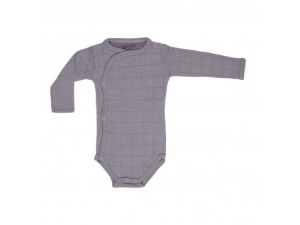 Lodger Dětské body Romper Solid Long Sleeves Donkey 1