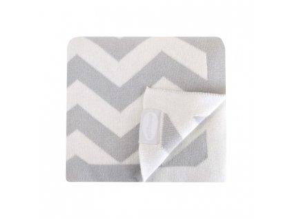 Shnuggle luxusní pletená deka pro děti šedá